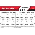 #4 Phillips Pan, Oval, & Flat-Head Black Chromate Sheet Metal Screws Assortment