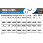 Stainless Steel Pan & Flat Phillips Mini Machine Screws Assortment (#2-56 & #3-48 Thread)