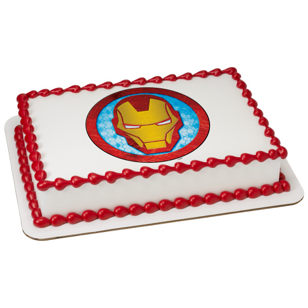 MARVEL Avengers Iron Man Icon PhotoCake® Edible Image®