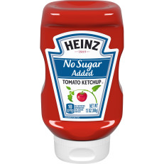 Heinz No Sugar Added Tomato Ketchup, 13 oz Squeeze Bottle image