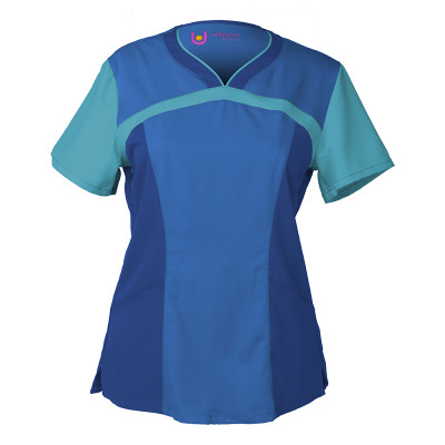 Urbane Ultimate Sweet Heart Neck Scrub Top for Women: 2 Pocket, Modern Tailored Fit, Luxe Soft Stretch Fabric, Medical Scrubs 9055-