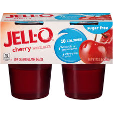 Jell-O Ready To Eat Cherry Sugar Free Gelatin 12.5 oz Sleeve (4 Cups)