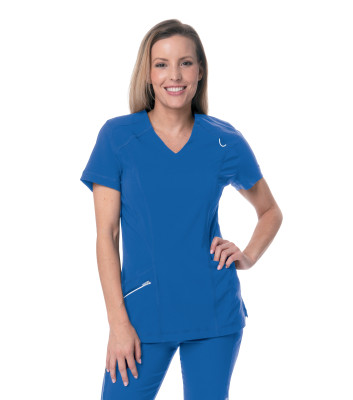 Urbane Align 4 Pocket Scrub Top for Women: Contemporary Slim Fit, Luxe Super Stretch, V-Neck Medical Scrubs 9066-Urbane
