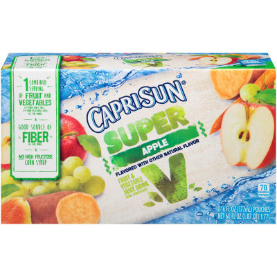 Capri Sun Super V Apple Fruit & Vegetable Juice Drink 10 - 6 fl oz Pouches