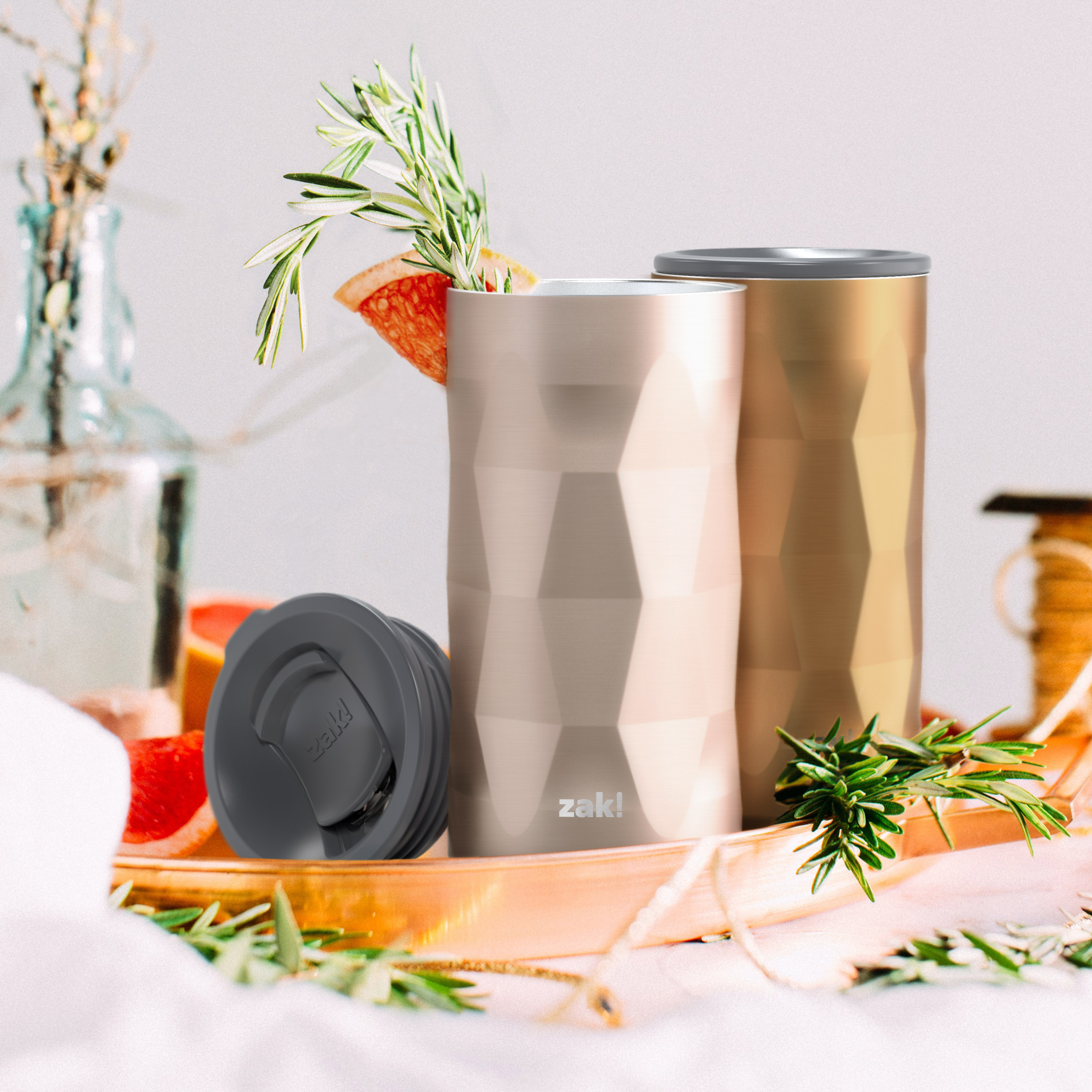 Fractal 12 ounce Vacuum Insulated Stainless Steel Tumbler, Copper slideshow image 4
