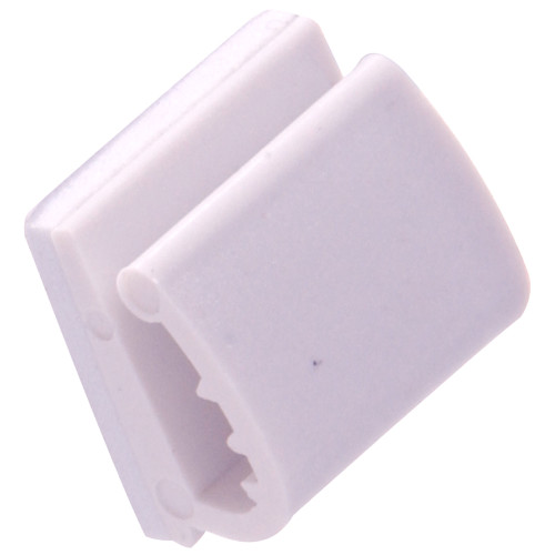 Hardware Essentials White Wire Adhesive Clips