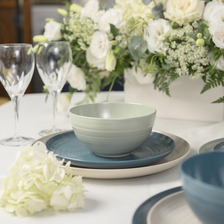 American Conventional Plate & Bowl Sets, Sage, 12-piece set slideshow image 6