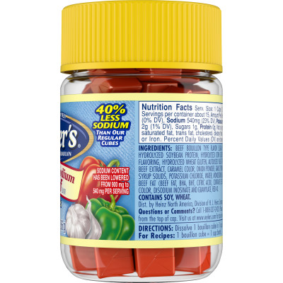 Wyler's Reduced Sodium Beef Flavor Instant Bouillon Cubes 2 oz Jar