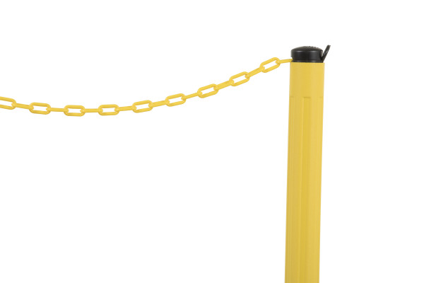 ChainBoss Stanchion - Yellow Empty  with Yellow Chain 10