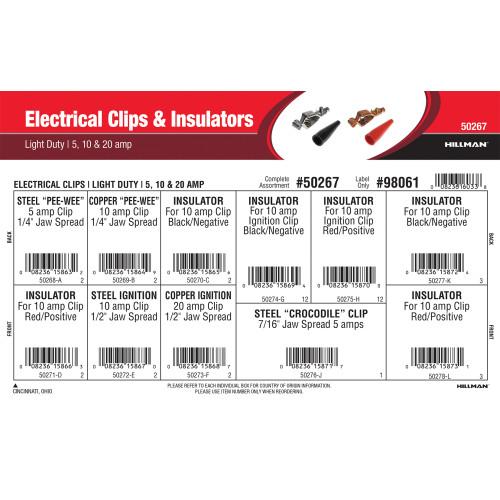 Light Duty Electrical Clips & Insulators Assortment (5, 10 & 20 Amp)