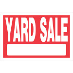 """Yard Sale Sign Red and White (8"""" x 12"""")"""