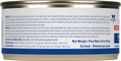 Weight Control in Gel Canned Cat Food