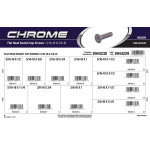 "Chrome Flat-Head Socket Cap Screws Assortment (5/16""-18 & 3/8""-16 Thread)"
