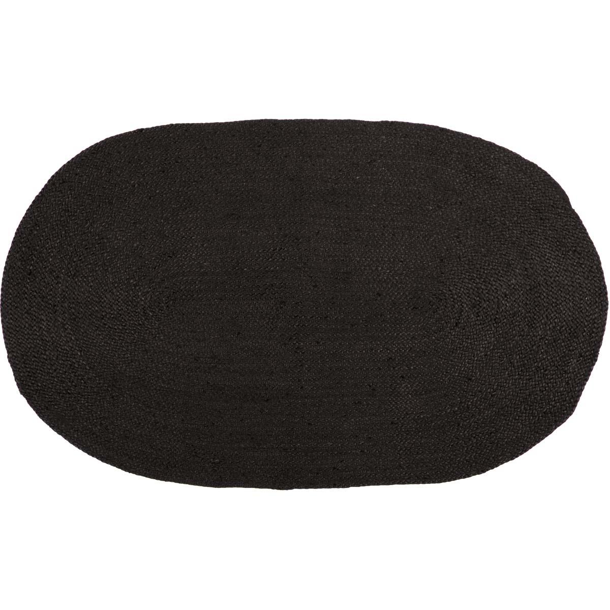 Black Primitive Flooring VHC Black Jute Rug Jute Solid