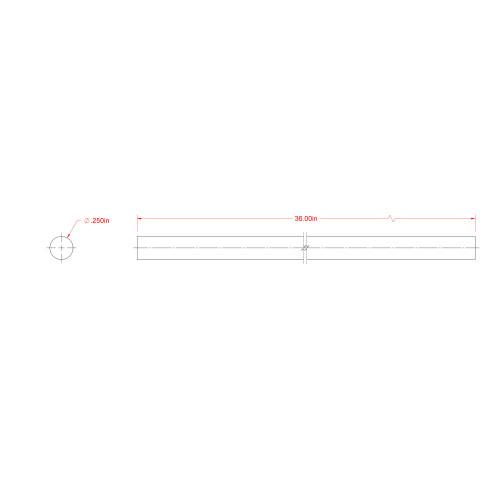 SteelWorks Aluminum Solid Rod (1/4