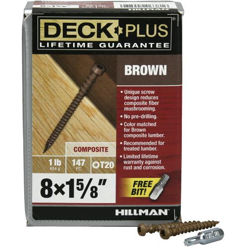 Brown Star-Drive Composite Deck Screw #8 x 1-5/8