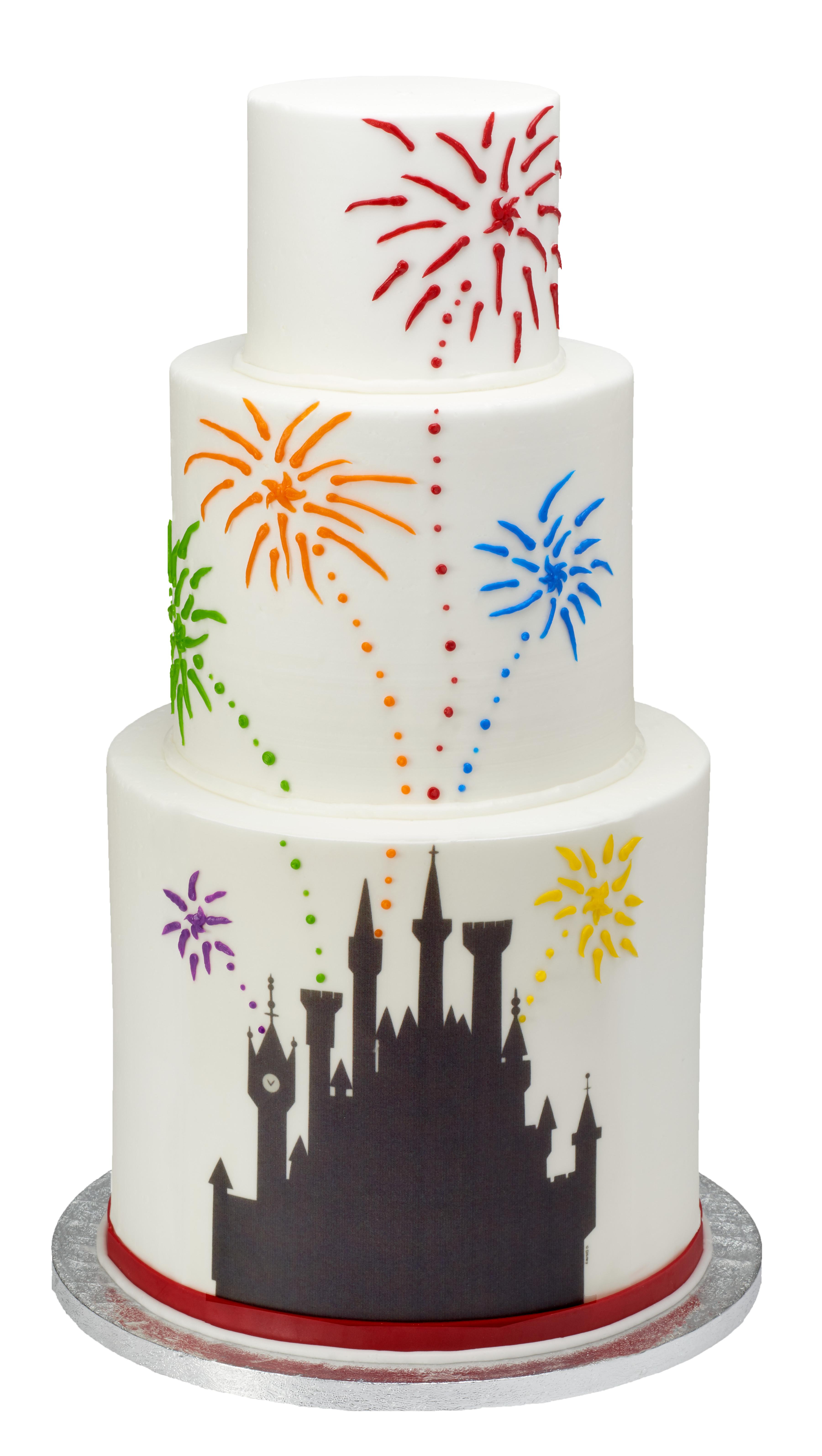 Disney Princess Castle Silhouette Photocake 174 Edible