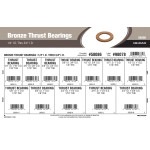 "Bronze Thrust Bearings Assortment (1/4"" thru 3/4"" Inner Dia.)"