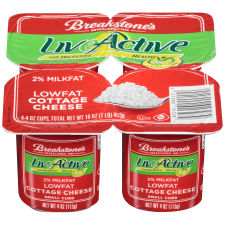 Breakstone's LiveActive 2% Milkfat Cottage Cheese 4 � 4 oz Cups