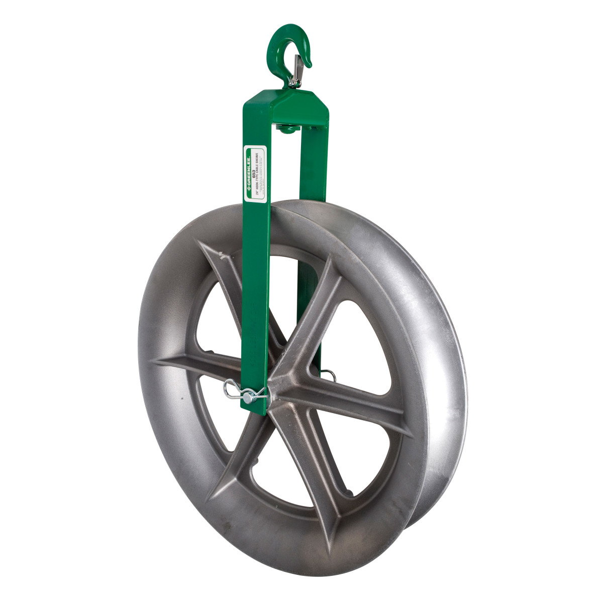 Greenlee 653 Hook-Type Cable Pulling Sheave, 24""