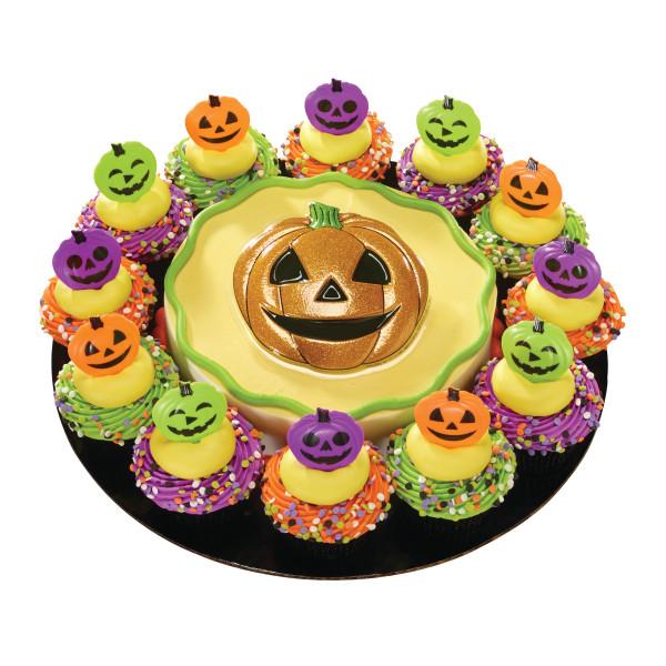 Colored Pumpkin Face DecoPics®