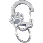 Quick-Tag Anodized Crystal Paw Tag Clip