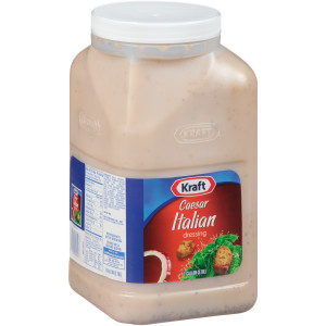 KRAFT Caesar Italian Salad Dressing, 1 gal. Jugs (Pack of 4) image