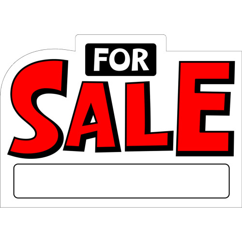 For Sale Sign Die Cut (10