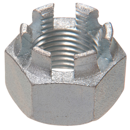 SAE Fine Hex Castellated Nuts 7/16