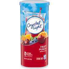 Crystal Light Fruit Punch Powdered Drink Mix, 6 Pitcher Packet