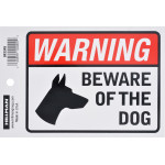 "Adhesive Beware of Dog Sign (4"" x 6"")"