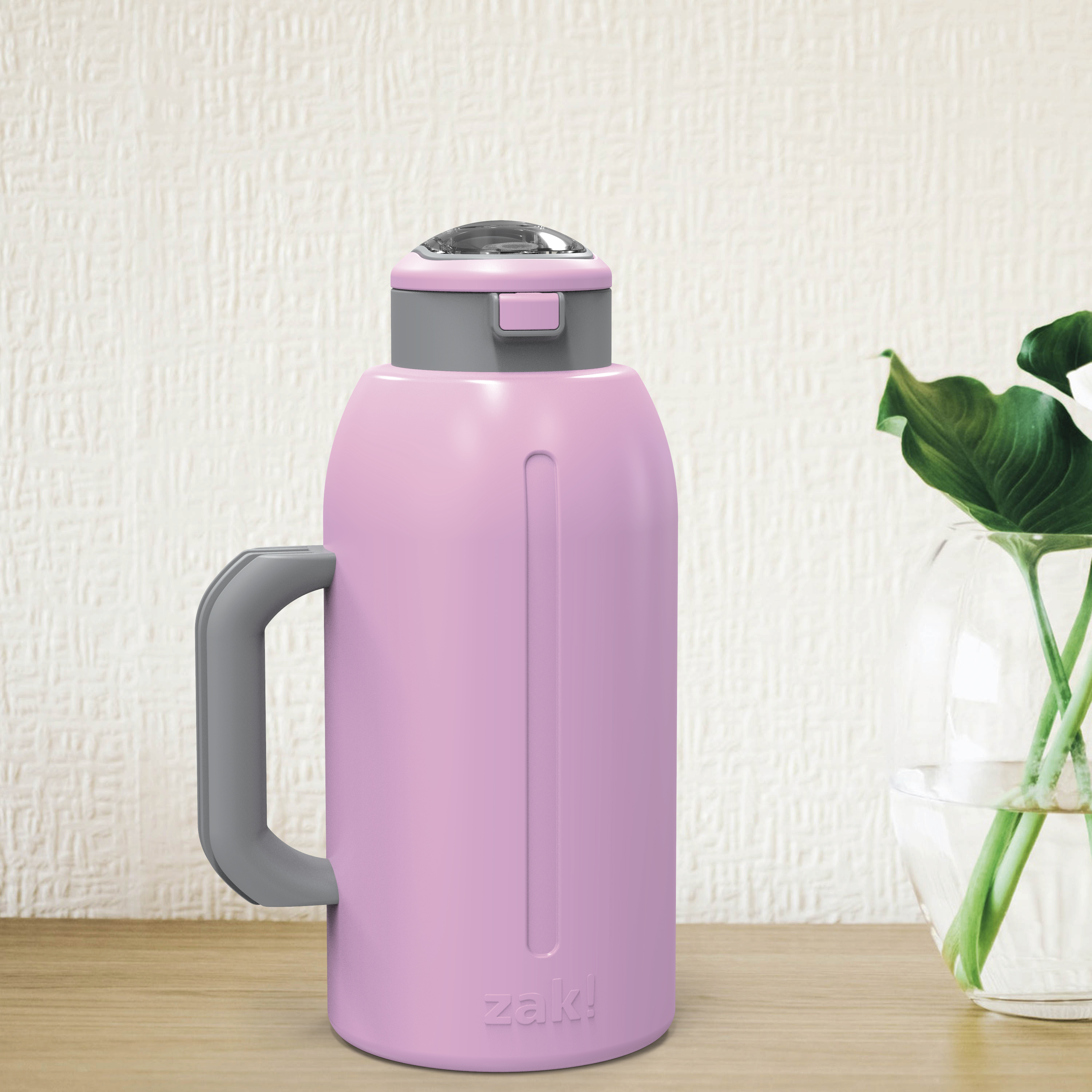 Genesis 64 ounce Stainless Steel Water Bottles, Lilac slideshow image 2