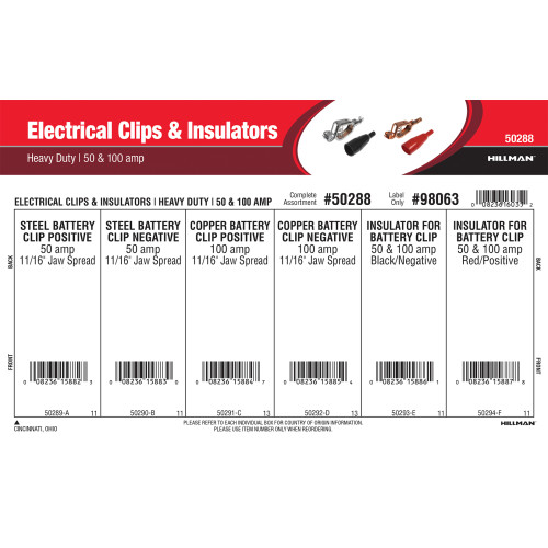 Heavy Duty Electrical Clips & Insulators Assortment (50 & 100 Amp)