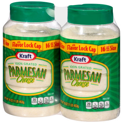 Kraft 100% Grated Parmesan Cheese Shakers 2 - 16 oz Multipack