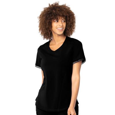 Urbane Impulse Two-Pocket Scrub Top for Women: Contemporary Slim Fit, V-Neck Medical Scrub Top 9107-Urbane