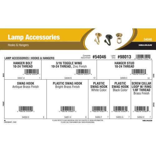 Lamp Accessories Assortment (Hooks & Hangers)