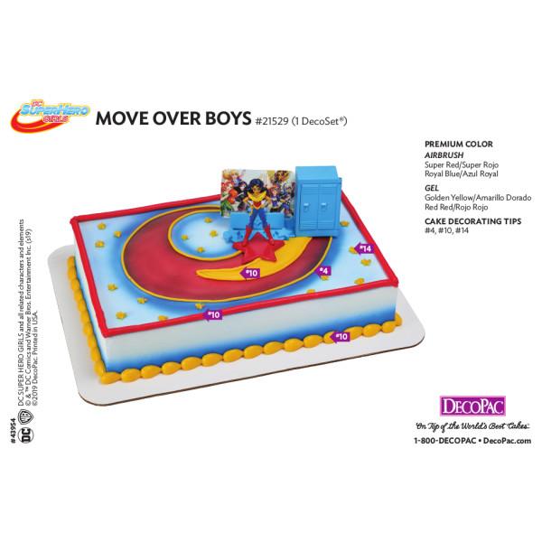 DC Super Hero Girls™ Move Over Boys Cake Decorating Instruction Card