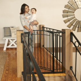 Multi-Use Décor Tall Walk-Thru Baby Gate