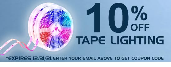 10% Tape Lighting