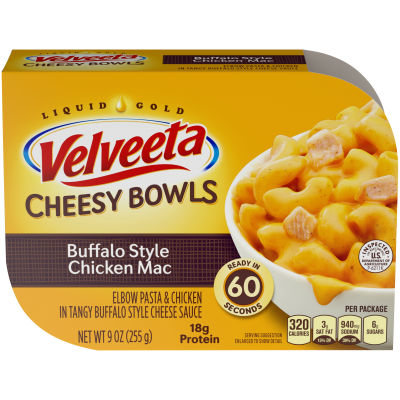 Kraft Velveeta Cheesy Bowls Buffalo Style Chicken Mac, 9 oz Tray