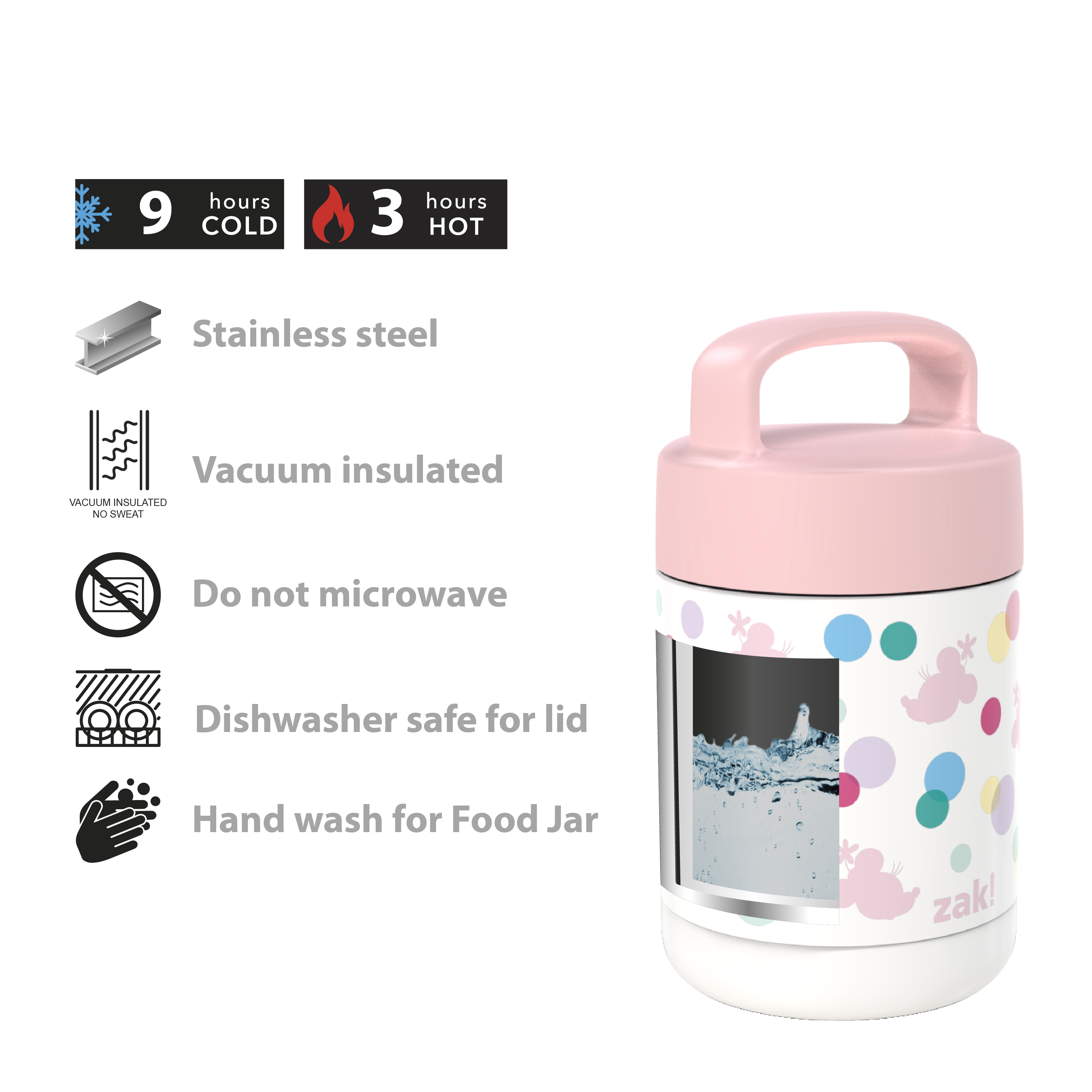 Disney Reusable Vacuum Insulated Stainless Steel Food Container, Minnie Mouse slideshow image 5