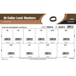 "Hi-Collar Lock Washers Assortment (#6 thru 3/4"")"