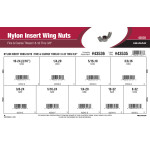 "Nylon Insert Wing Nuts Assortment (#8-32 thru 3/8"" Fine & Coarse Thread)"