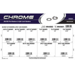 Chrome AN/USS Flat Washers & Split Lock Washers Assortment