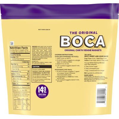 Boca Chik'n Veggie Nuggets Made With Non-GMO Soy 10 oz Pouch