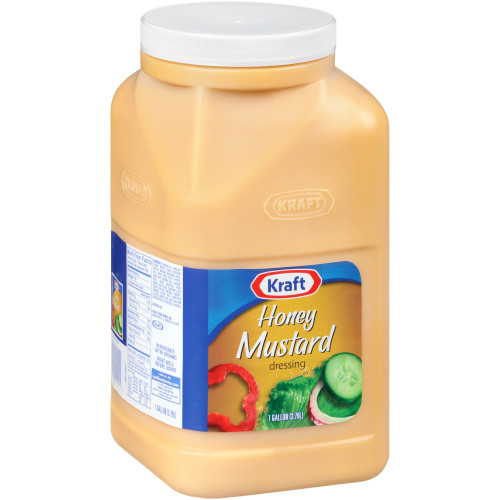 KRAFT Honey Mustard Salad Dressing, 1 gal. Jugs (Pack of 4)