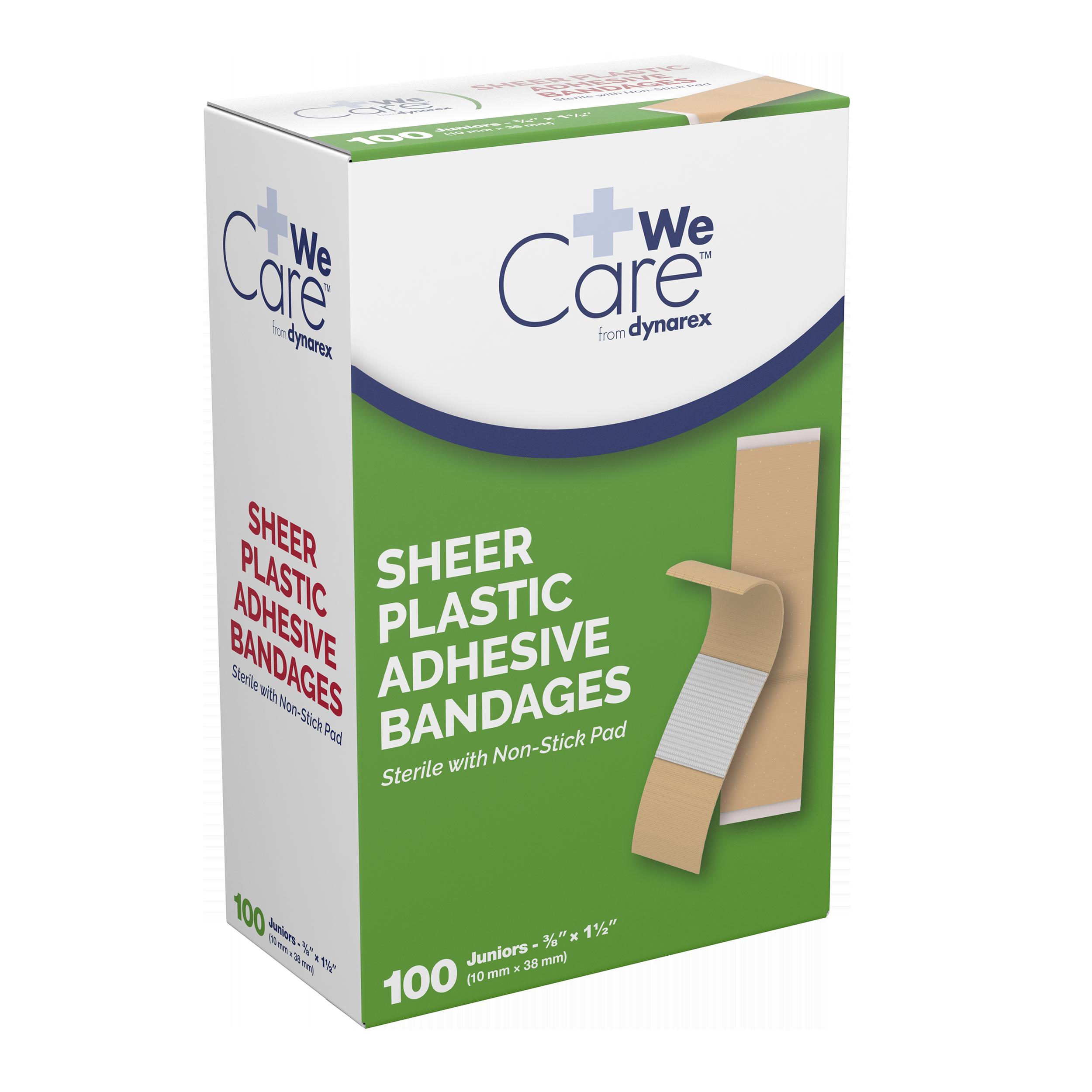 Sheer Plastic Adhesive Bandages Sterile - 3/8