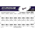 "Chrome Flat-Head Socket Cap Screws Assortment (#8-32, #10-24, & 1/4""-20 Thread)"