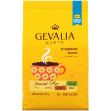 Gevalia Breakfast Blend Decaf Ground Coffee 8 oz Bag