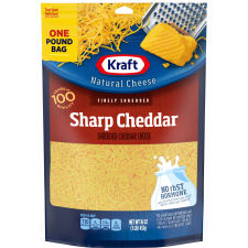 Kraft Sharp Cheddar Finely Shredded Natural Cheese 16 oz Pouches